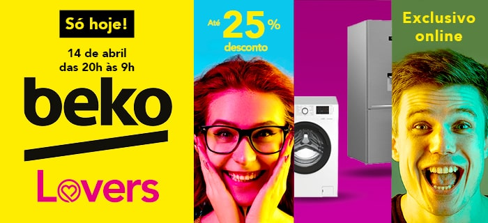 EXCLUSIVO ONLINE BEKO 14 ABRIL DAS 20H ÀS 09H